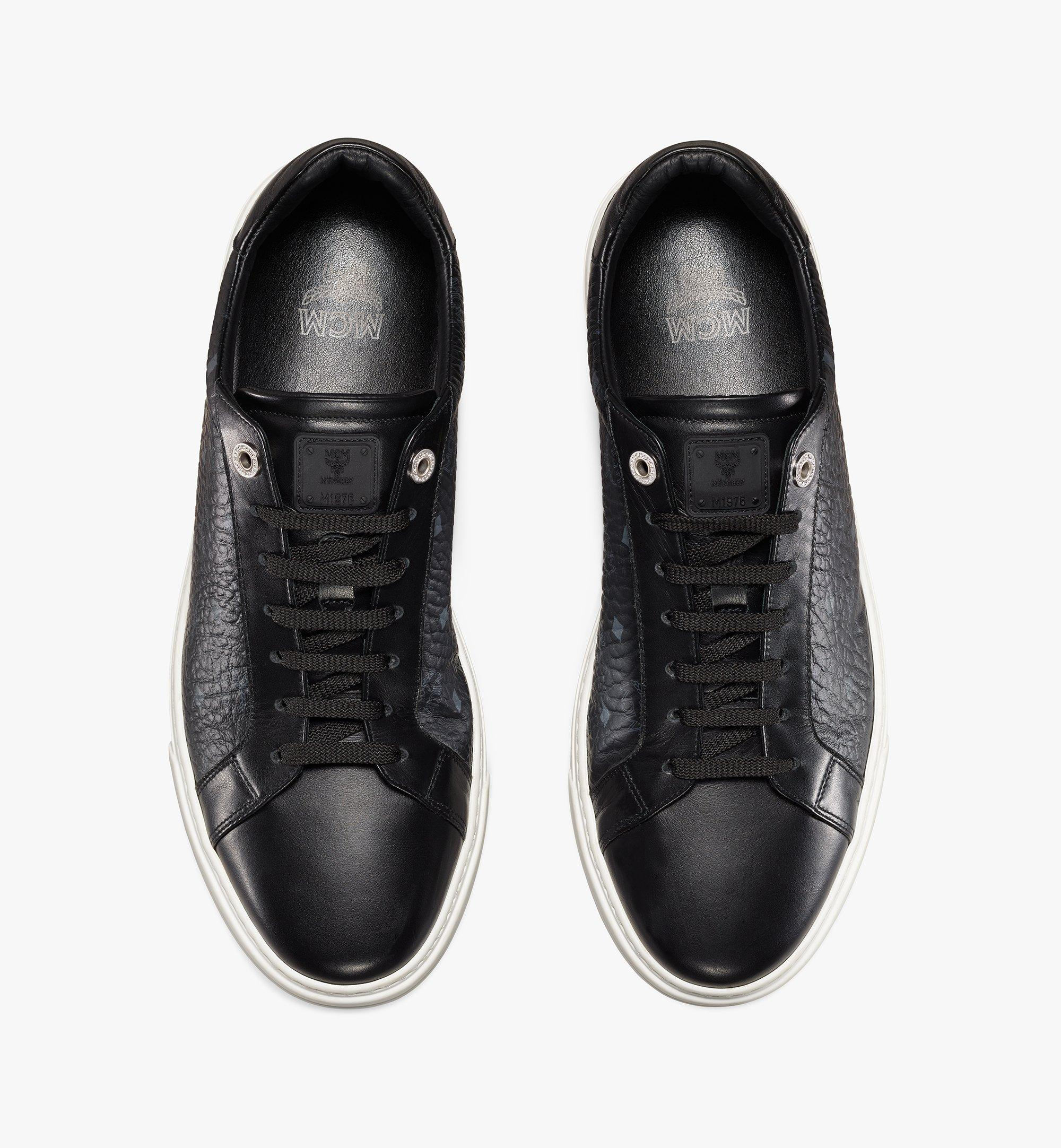 MCM Men's Terrain Lo Sneakers in Visetos Black MEXAAMM11BK042 Alternate View 4