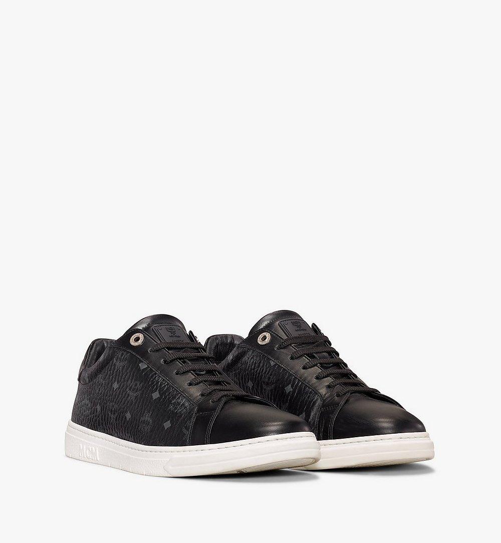 MCM Men's Terrain Lo Sneakers in Visetos Black MEXAAMM11BK044 Alternate View 1
