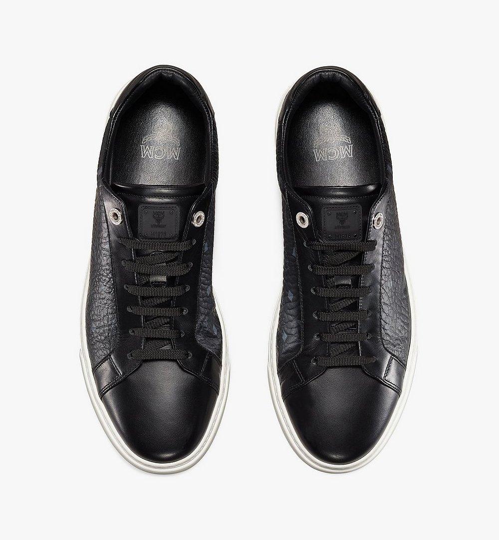 MCM Men's Terrain Lo Sneakers in Visetos Black MEXAAMM11BK044 Alternate View 4