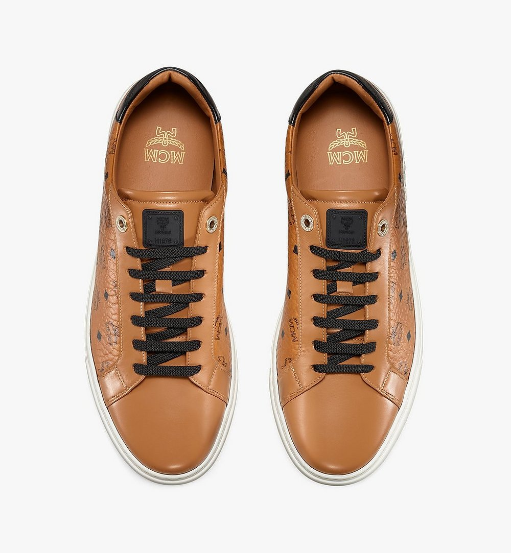 MCM Men's Terrain Lo Sneakers in Visetos Cognac MEXAAMM11CO040 Alternate View 4