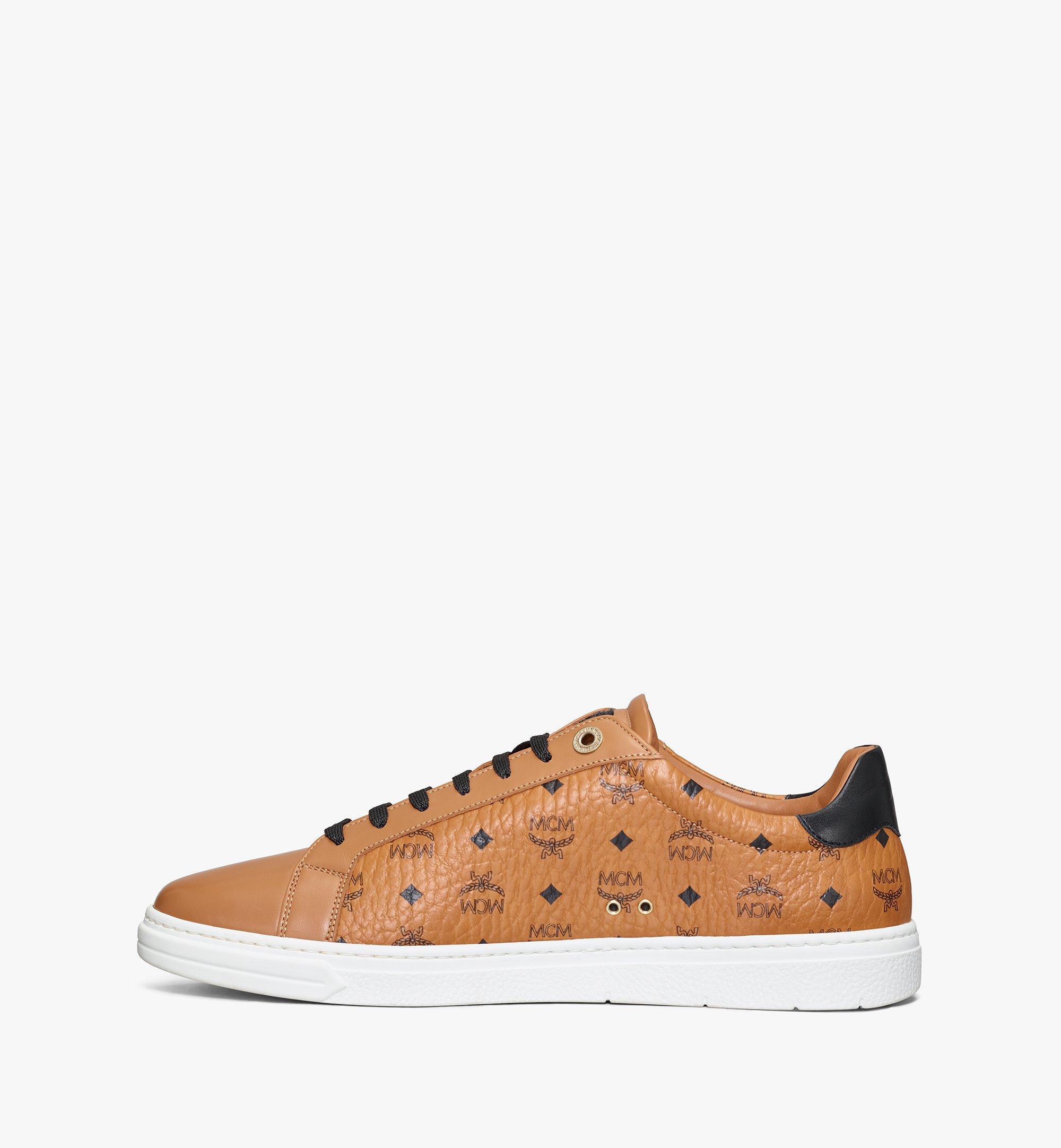 MCM Men's Terrain Lo Sneakers in Visetos Cognac MEXAAMM11CO041 更多視圖 1