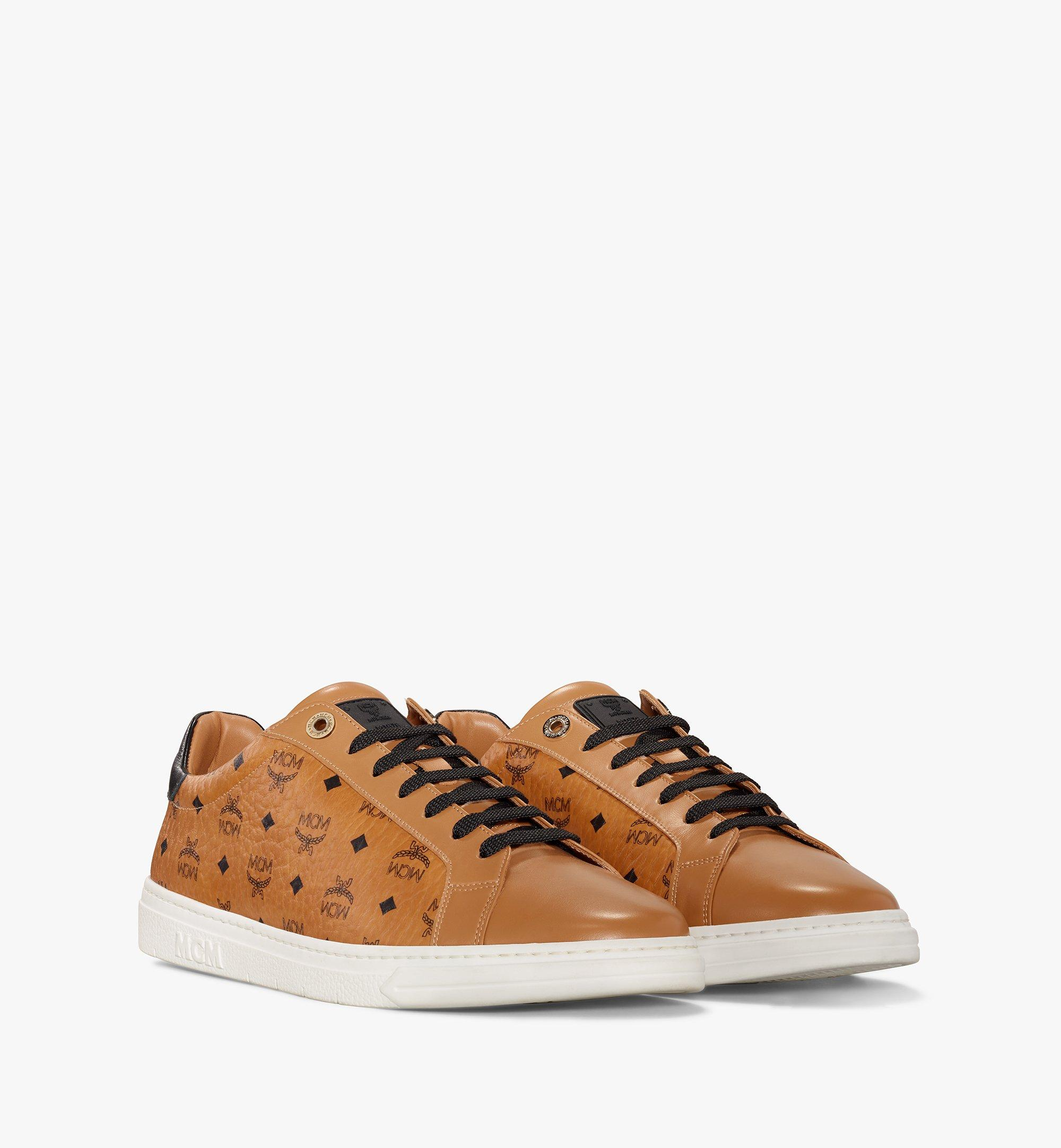 MCM Men's Terrain Lo Sneakers in Visetos Cognac MEXAAMM11CO042 มุมมองอื่น 1