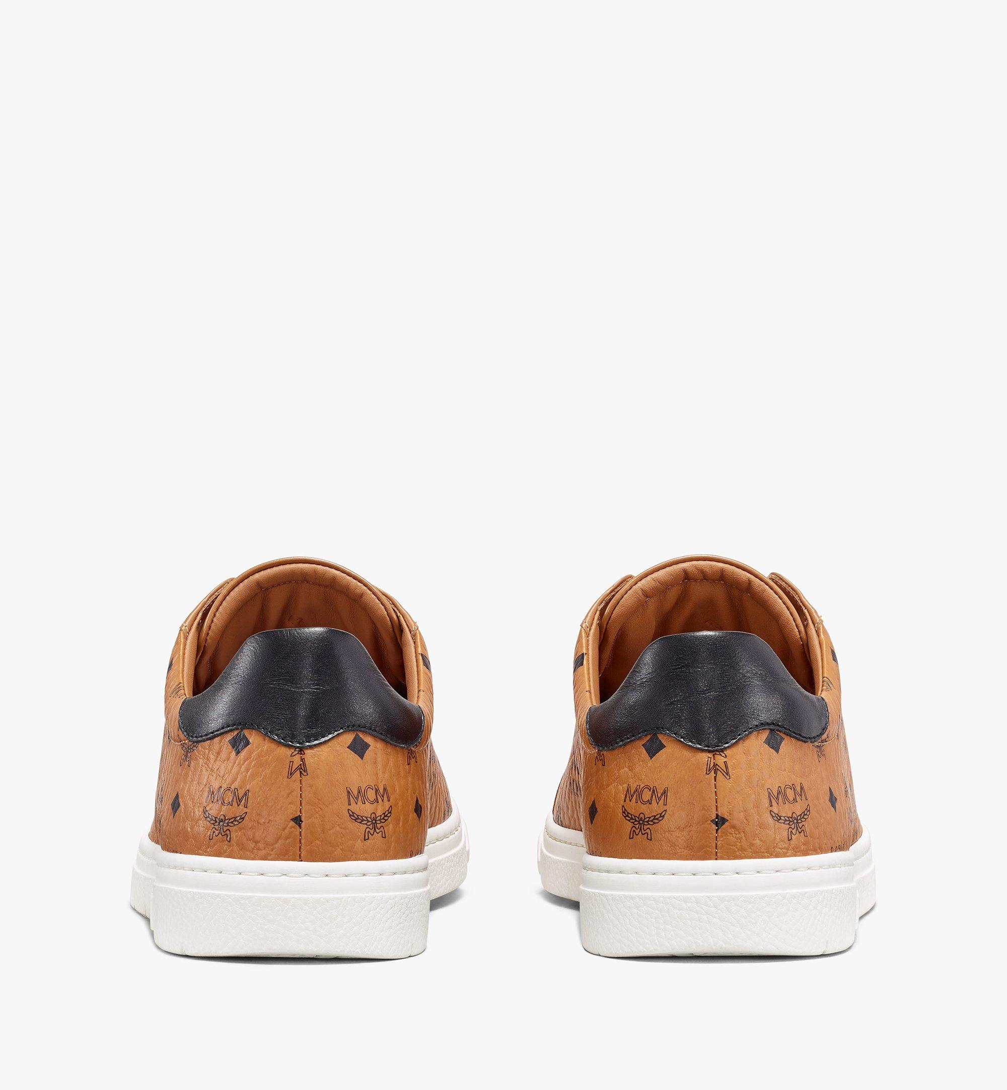 MCM Men's Terrain Lo Sneakers in Visetos Cognac MEXAAMM11CO042 มุมมองอื่น 2