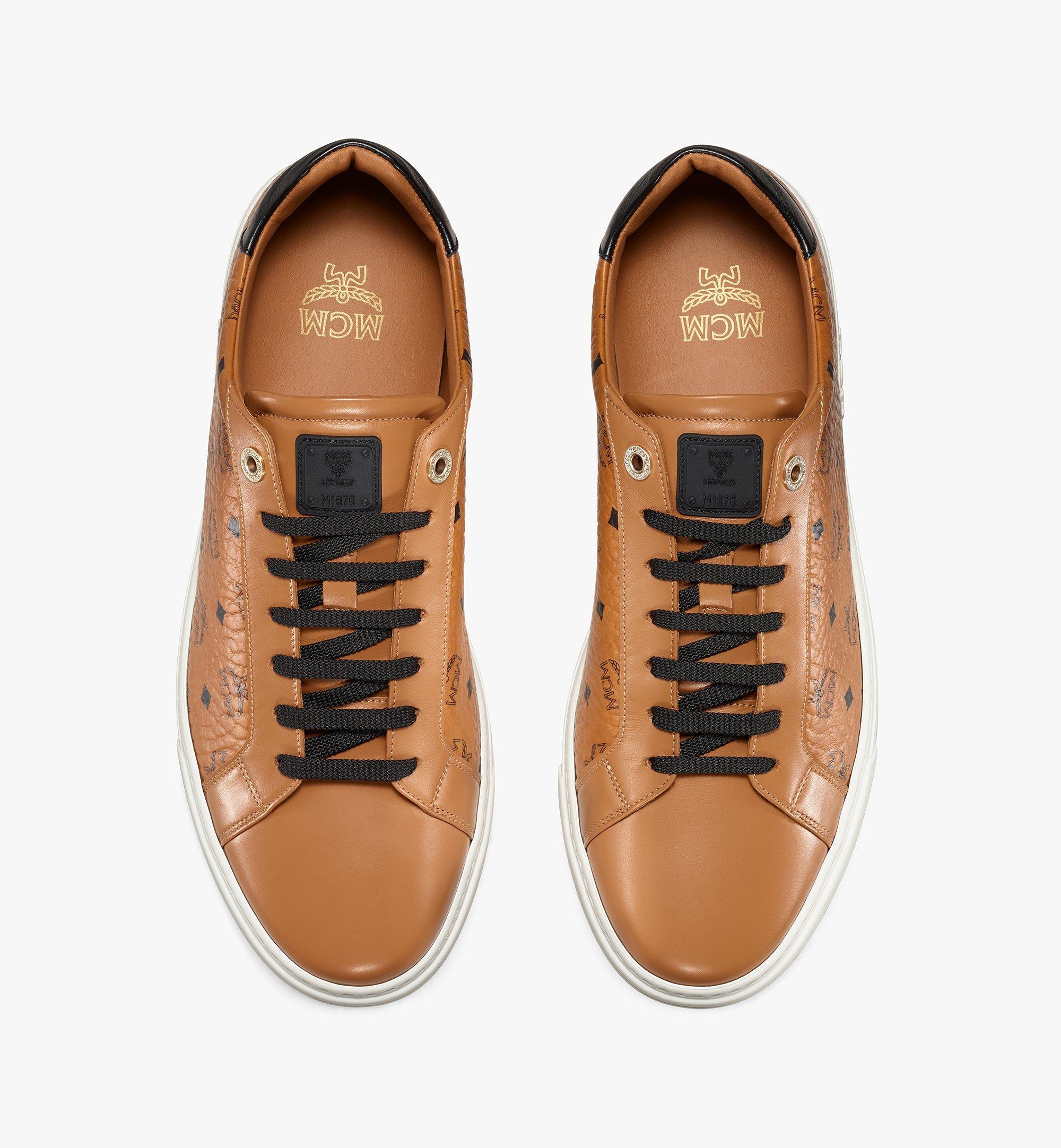 MCM Men's Terrain Lo Sneakers in Visetos Cognac MEXAAMM11CO042 มุมมองอื่น 4