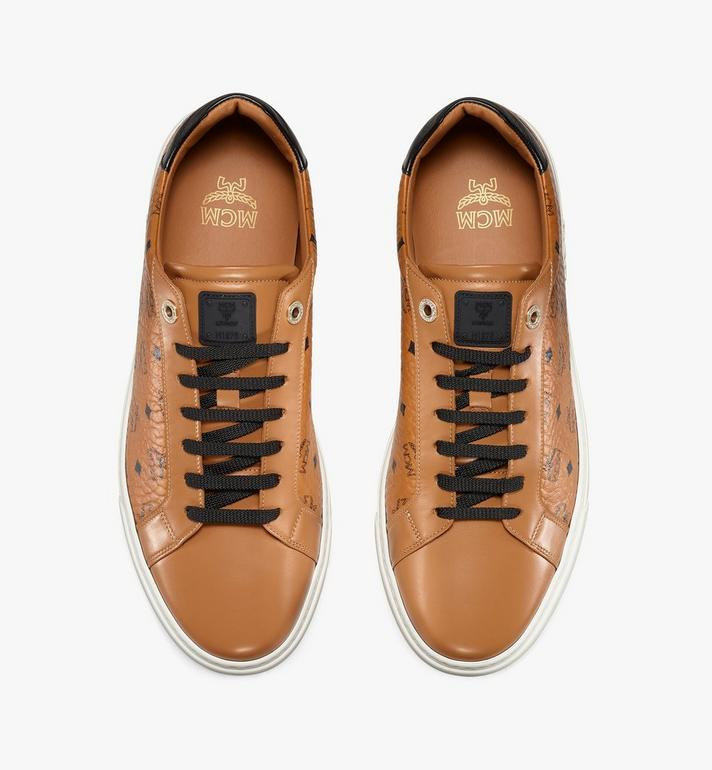 MCM Men's Terrain Lo Sneakers in Visetos Cognac MEXAAMM11CO044 Alternate View 5