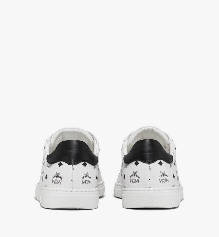 MCM Men's Terrain Lo Sneakers in Visetos White MEXAAMM11WT042 Alternate View 3