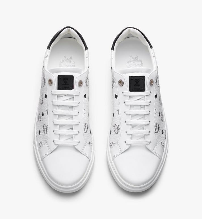 MCM Men's Terrain Lo Sneakers in Visetos White MEXAAMM11WT042 Alternate View 5