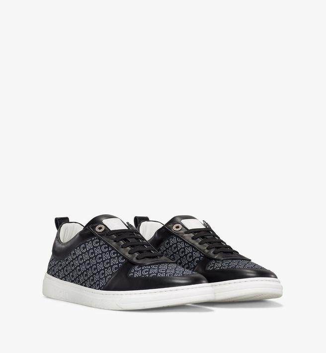 MCM Men's Terrain Lo Sneakers in Diagonal Monogram Canvas Alternate View