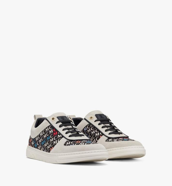 MCM Terrain Derby Low-Top-Sneaker mit diagonalem Logo für Herren Alternate View