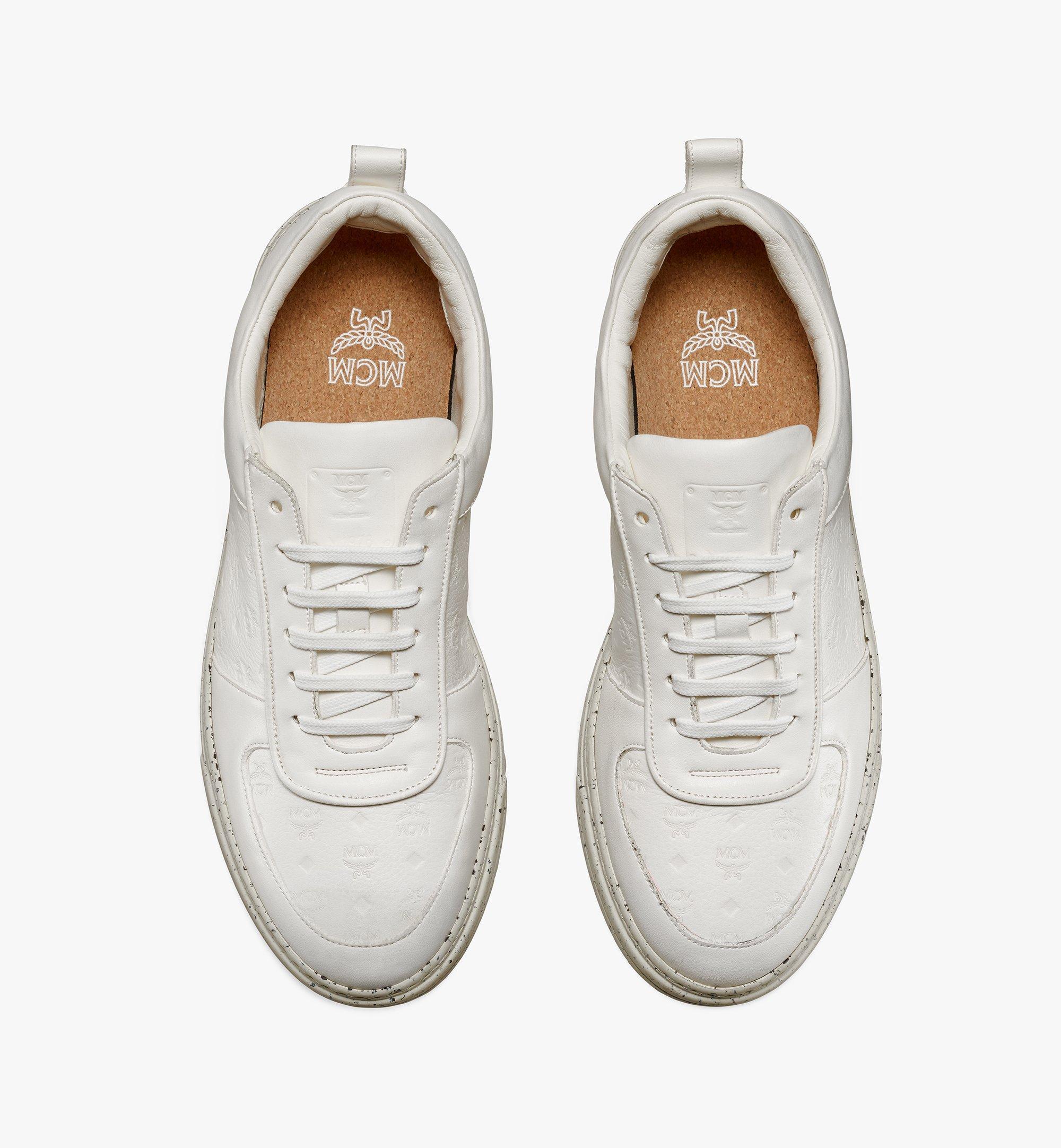 MCM Men's Sustainable Terrain Lo Sneakers White MEXAAMM14WT040 Alternate View 3