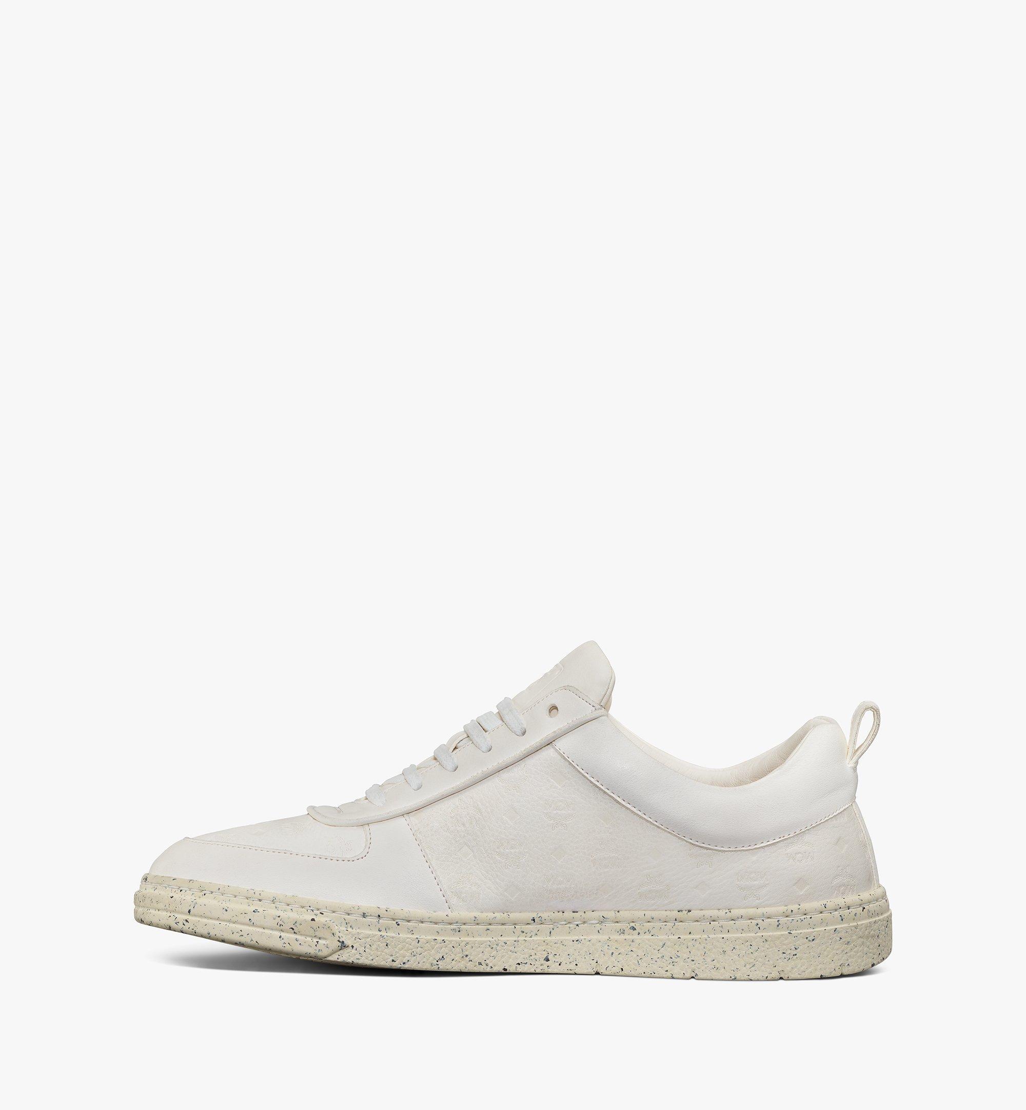 MCM Men's Sustainable Terrain Lo Sneakers White MEXAAMM14WT041 Alternate View 2