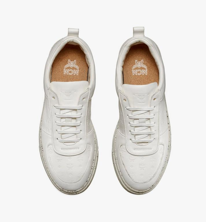 MCM Men's Sustainable Terrain Lo Sneakers White MEXAAMM14WT041 Alternate View 4