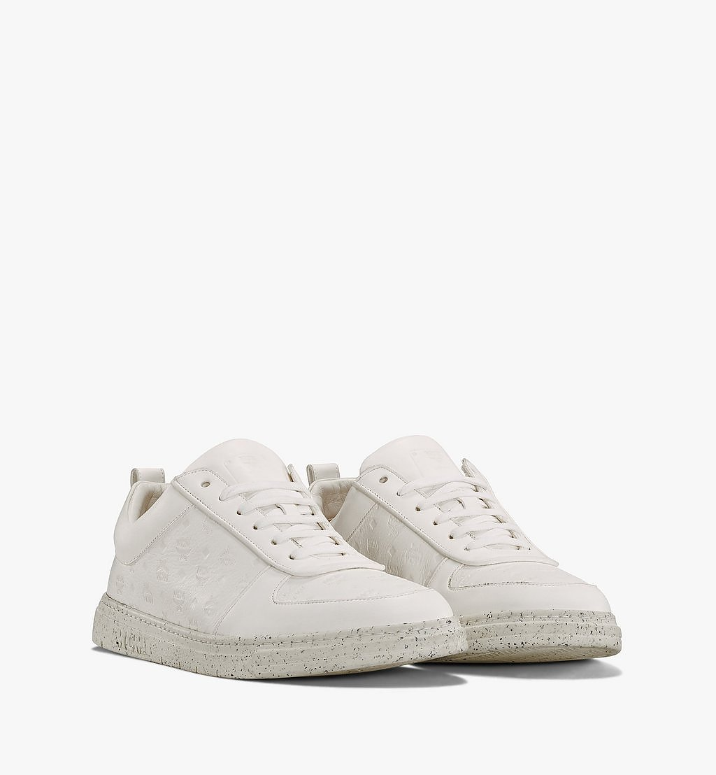 MCM Men's Sustainable Terrain Lo Sneakers White MEXAAMM14WT042 Alternate View 1