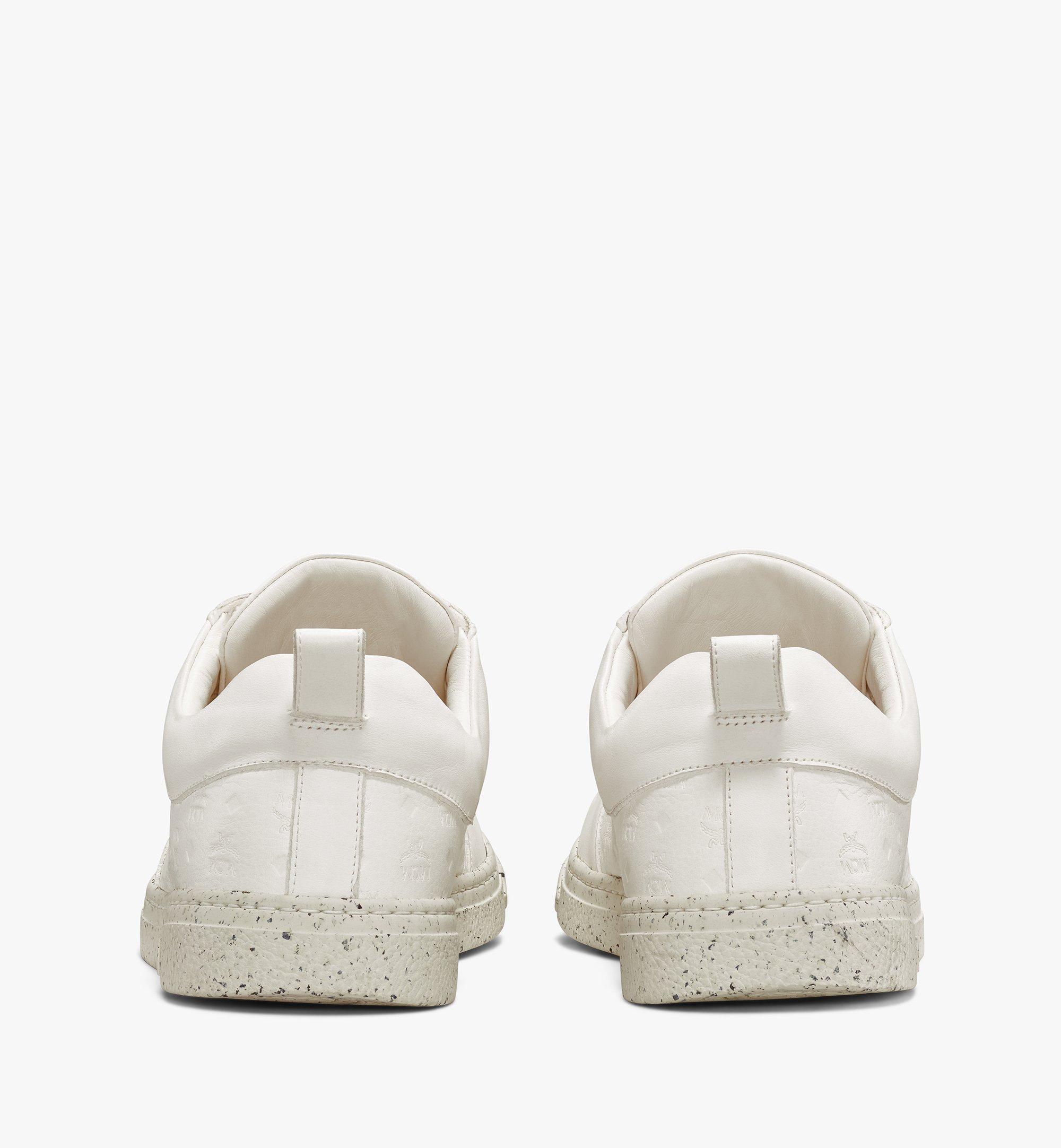 MCM Men's Sustainable Terrain Lo Sneakers White MEXAAMM14WT042 Alternate View 3
