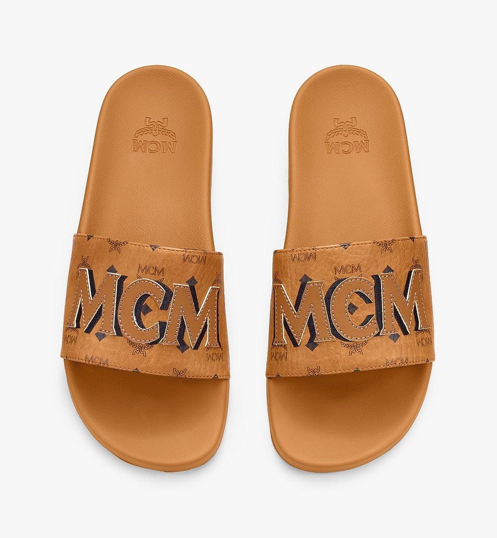 MCM Men's MCM Monogram Slides Cognac MEXAAMM16CO044 Alternate View 4