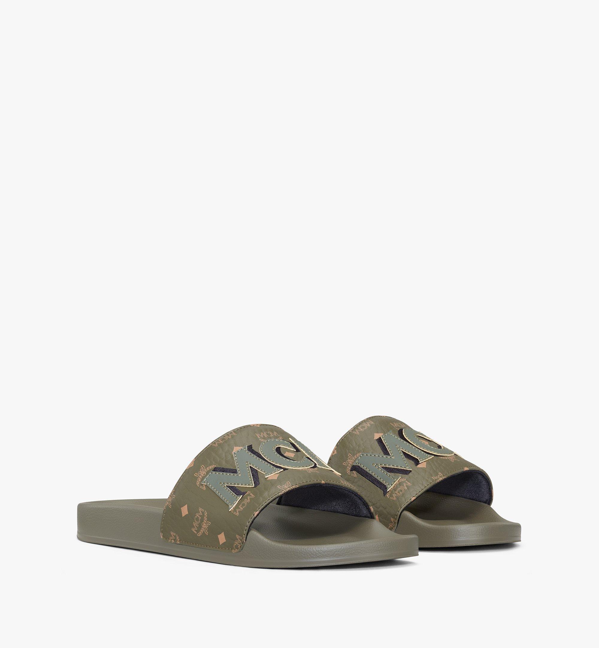 MCM รองเท้าแตะ MCM โมโนแกรมสำหรับผู้ชาย Green MEXAAMM16JH043 มุมมองอื่น 1