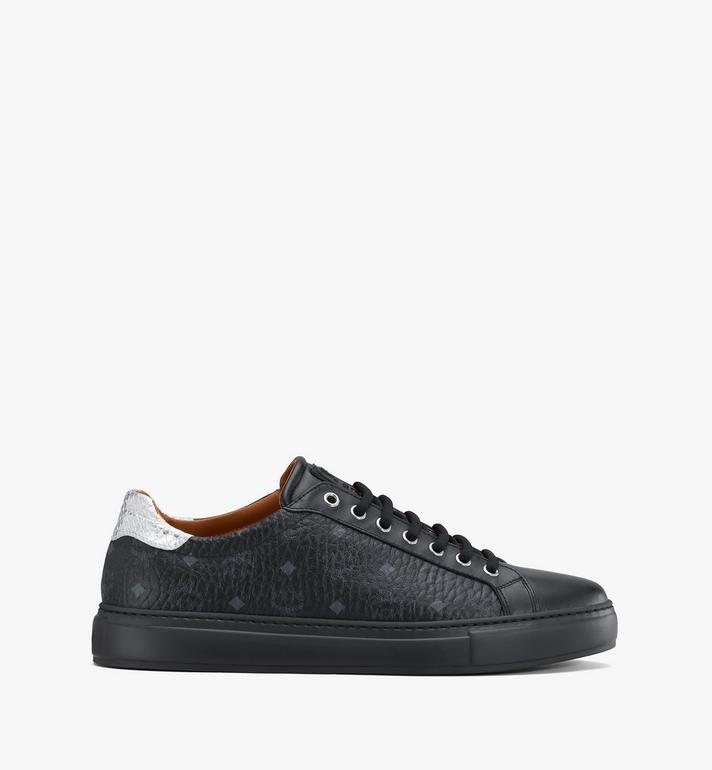 MCM Men's Low-Top Sneakers in Visetos Black MEXASMM10BK041 Alternate View 2