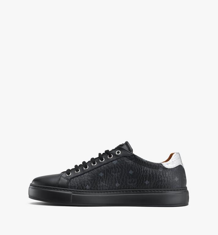 MCM Men's Low-Top Sneakers in Visetos Black MEXASMM10BK041 Alternate View 4