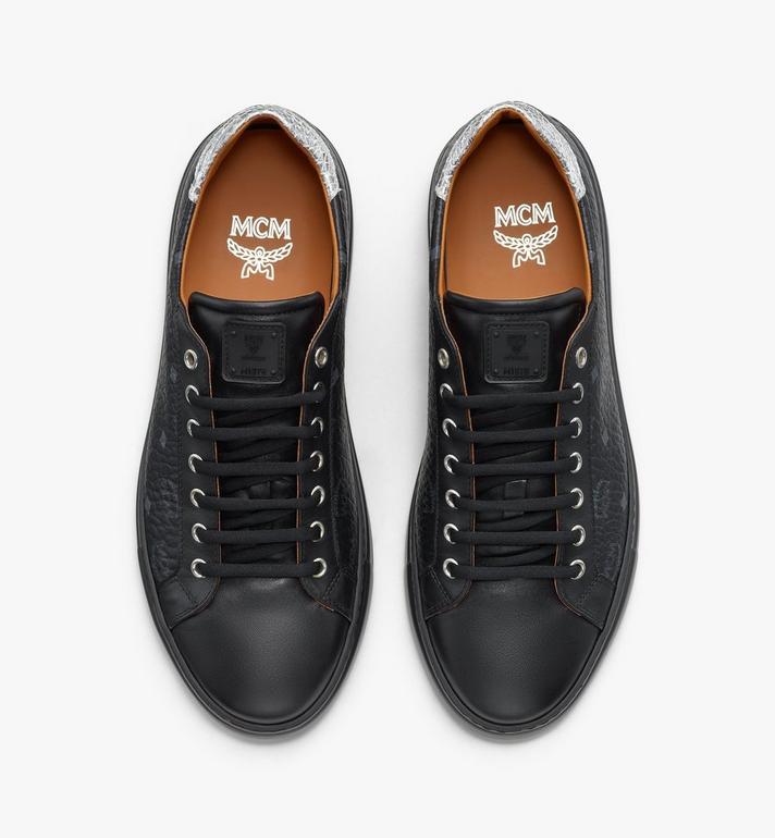 MCM Men's Low-Top Sneakers in Visetos Black MEXASMM10BK041 Alternate View 5