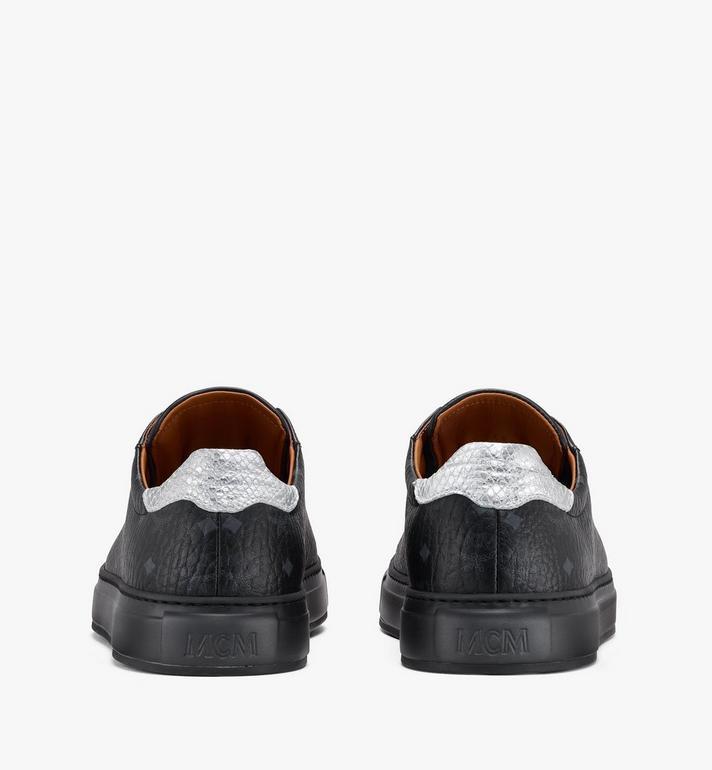 MCM Men's Low-Top Sneakers in Visetos Black MEXASMM10BK042 Alternate View 3