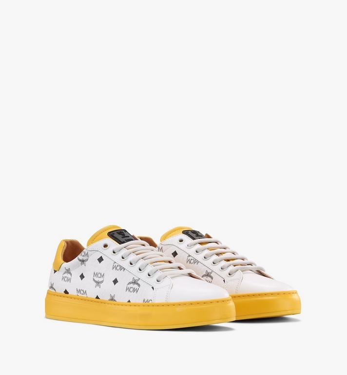 MCM Klassische Low Top Sneaker in Visetos für Herren Alternate View