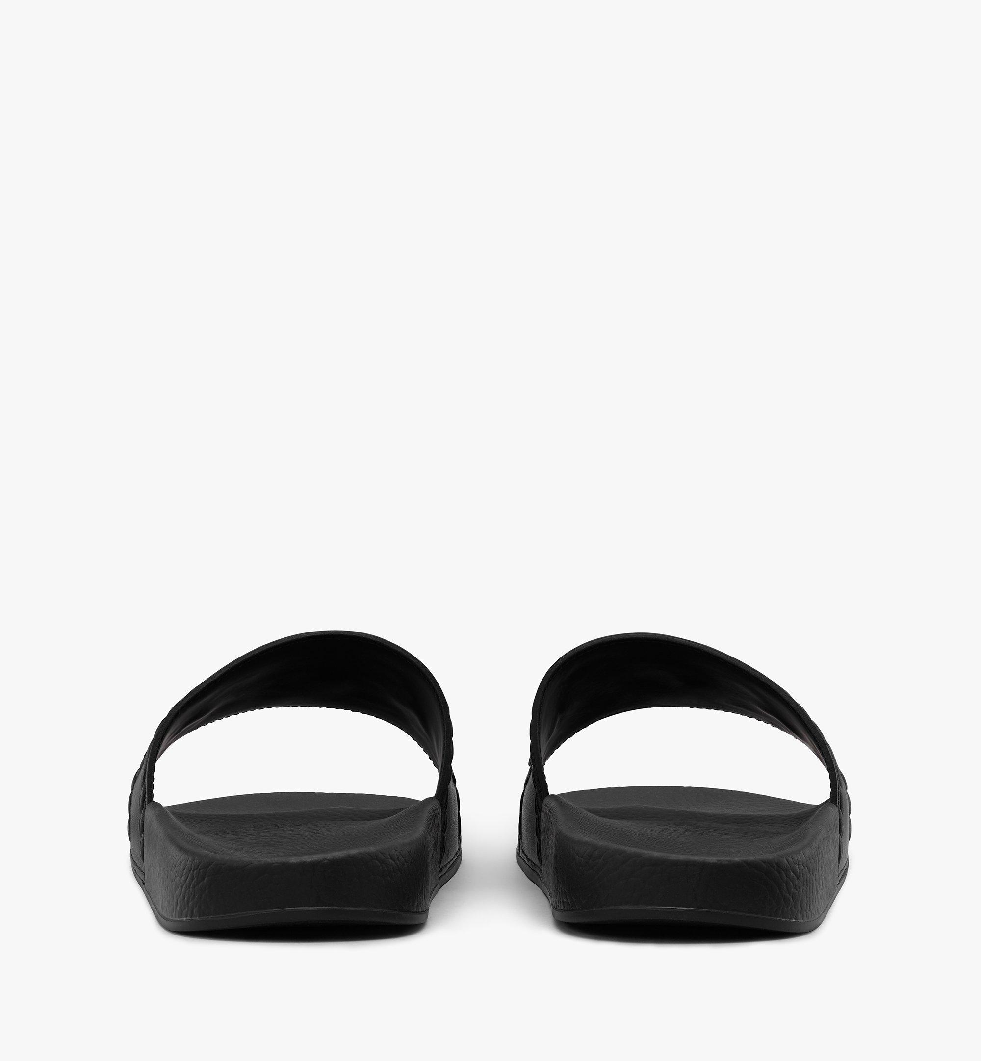 MCM 男士Big Logo拖鞋 Black MEXASMM21BK041 更多视角 2