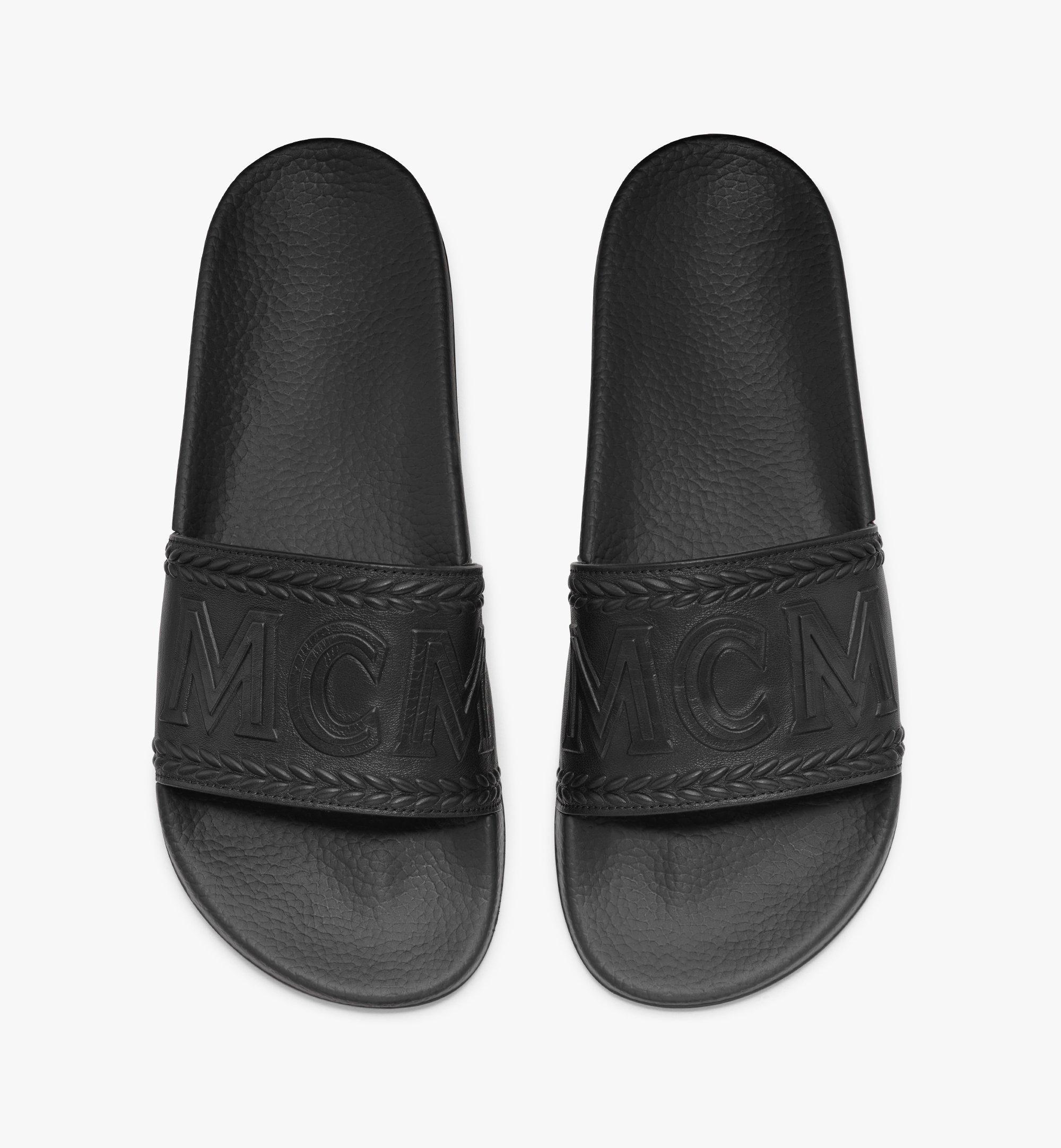 MCM 男士Big Logo拖鞋 Black MEXASMM21BK041 更多视角 4