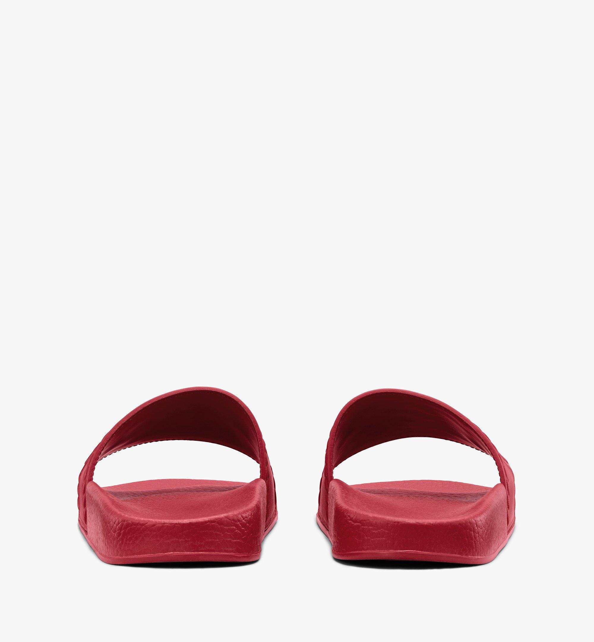 MCM 男士Big Logo拖鞋 Red MEXASMM21R4041 更多视角 2