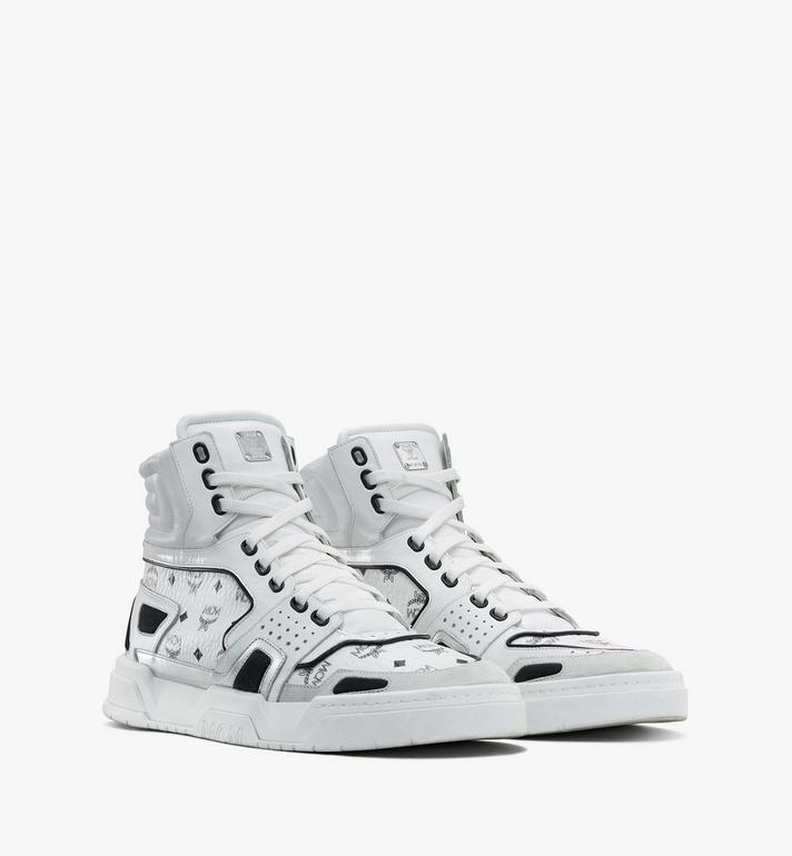 MCM Men's Skyward High-Top Sneakers in Visetos Alternate View