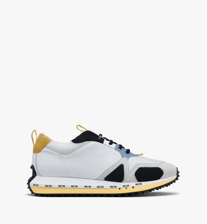 MCM Men's Mach 76 Sneakers White MEXASMM34WT041 Alternate View 2