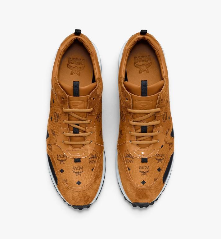 MCM Men's Mach 76 Sneakers in Visetos Cognac MEXASMM35CO044 Alternate View 5