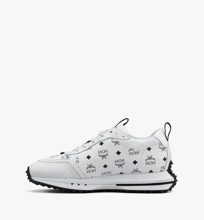 MCM Men's Mach 76 Sneakers in Visetos White MEXASMM35WT041 Alternate View 4