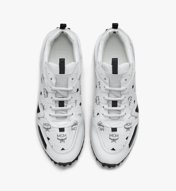 MCM Men's Mach 76 Sneakers in Visetos White MEXASMM35WT042 Alternate View 5