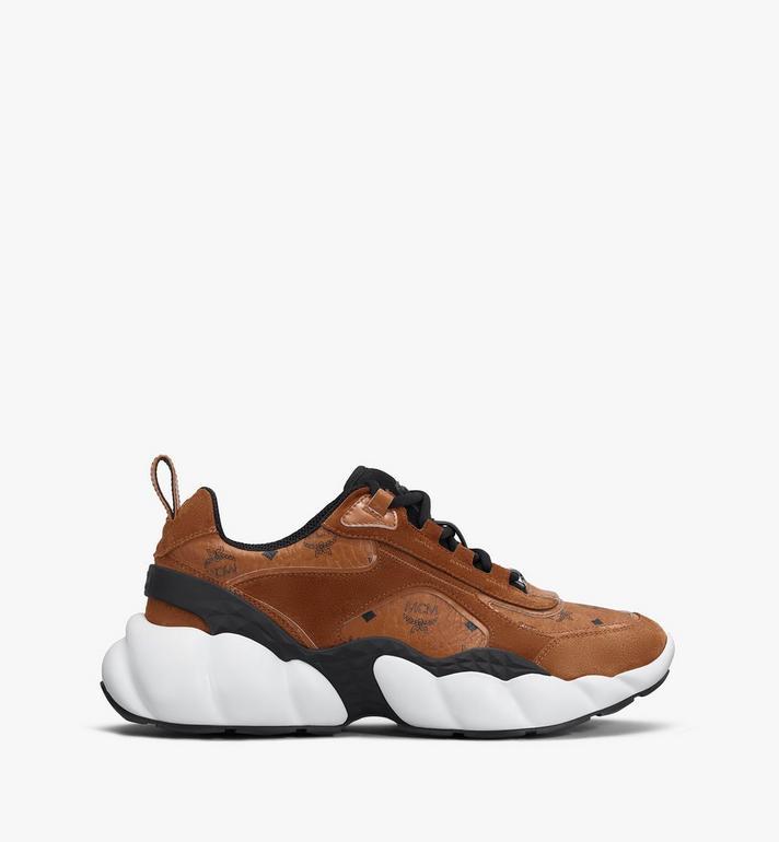 MCM Men's Himmel Low-Top Sneakers in Visetos Cognac MEXASNX01CO041 Alternate View 2
