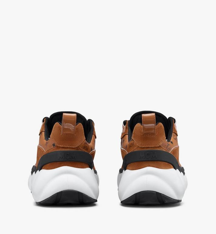 MCM Men's Himmel Low-Top Sneakers in Visetos Cognac MEXASNX01CO041 Alternate View 3
