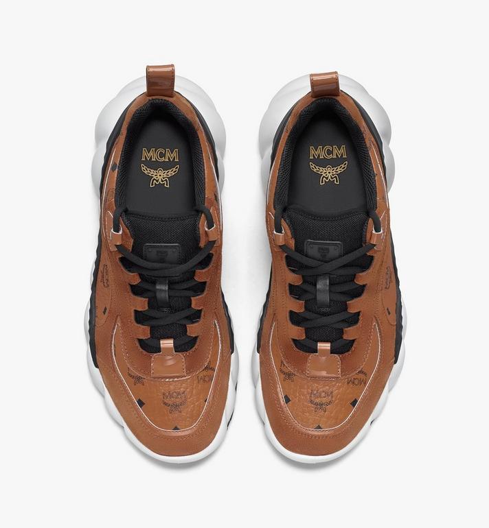 MCM Men's Himmel Low-Top Sneakers in Visetos Cognac MEXASNX01CO041 Alternate View 5