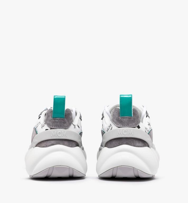 MCM Men's Himmel Low-Top Sneakers in Visetos Silver MEXASNX01SE042 Alternate View 3