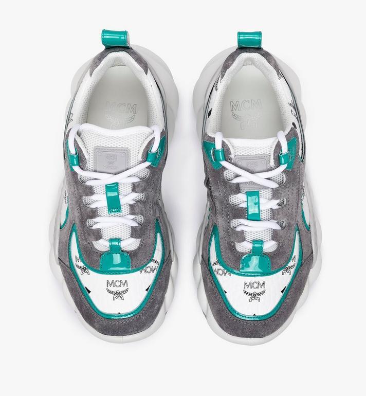 MCM Men's Himmel Low-Top Sneakers in Visetos Silver MEXASNX01SE042 Alternate View 5