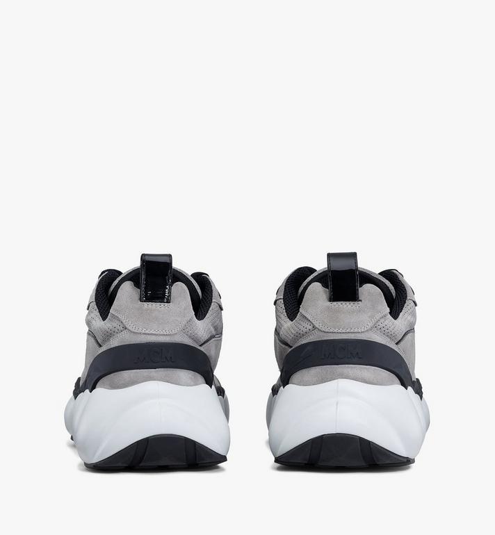 MCM Men's Himmel Low-Top Sneakers Grey MEXASNX02FJ041 Alternate View 3