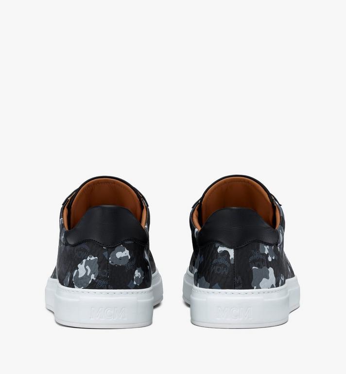 MCM Men's Low-Top Sneakers in Floral Leopard Black MEXASSE04B1041 Alternate View 3