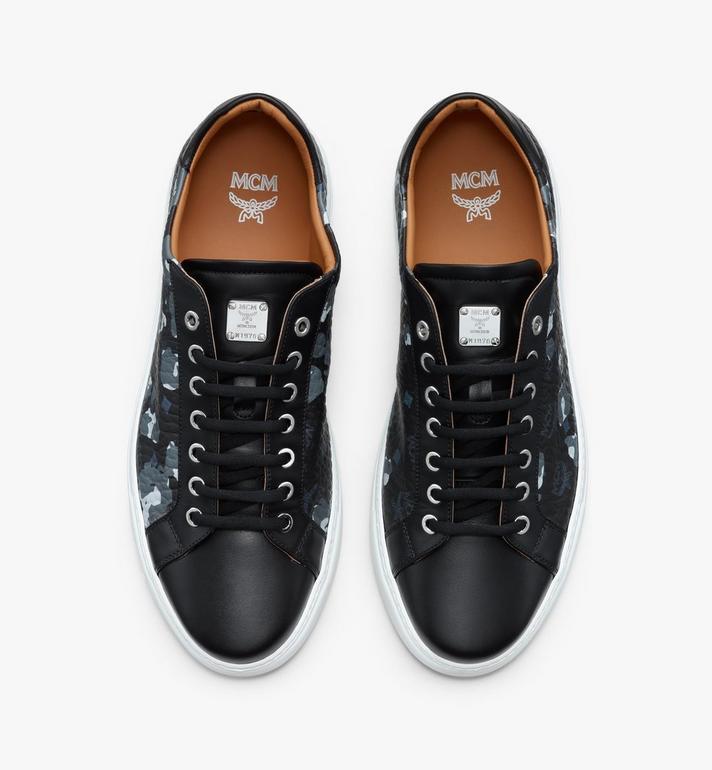 MCM Men's Low-Top Sneakers in Floral Leopard Black MEXASSE04B1041 Alternate View 5
