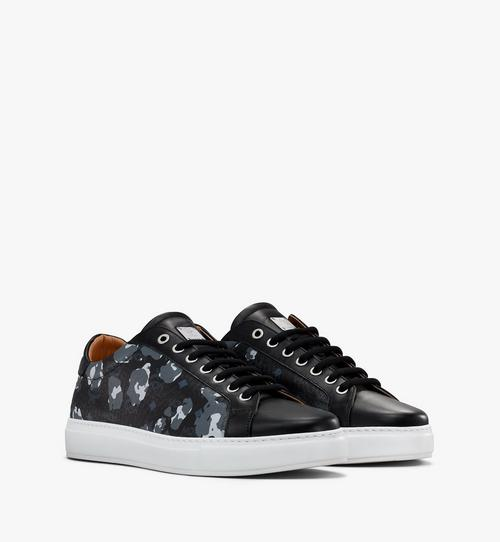 Men's Low-Top Sneakers in Floral Leopard