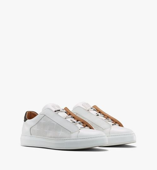 Men's Classic Low-Top Sneakers in Diamond Perforated Leather