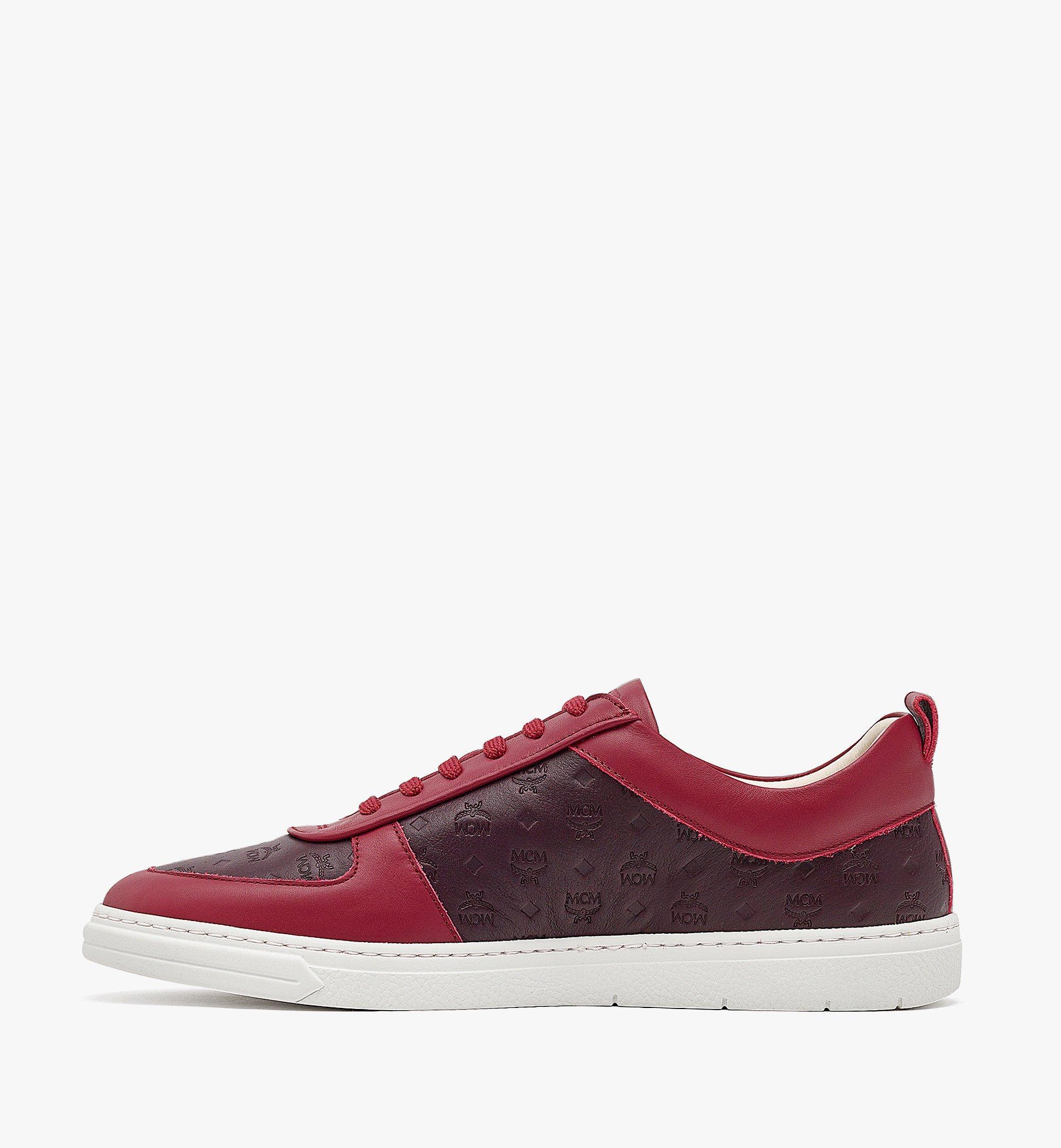 MCM Nachhaltiger Terrain Low-Top-Sneaker aus Leder mit Monogramm für Herren Brown MEXBAMM01N9040 Noch mehr sehen 1