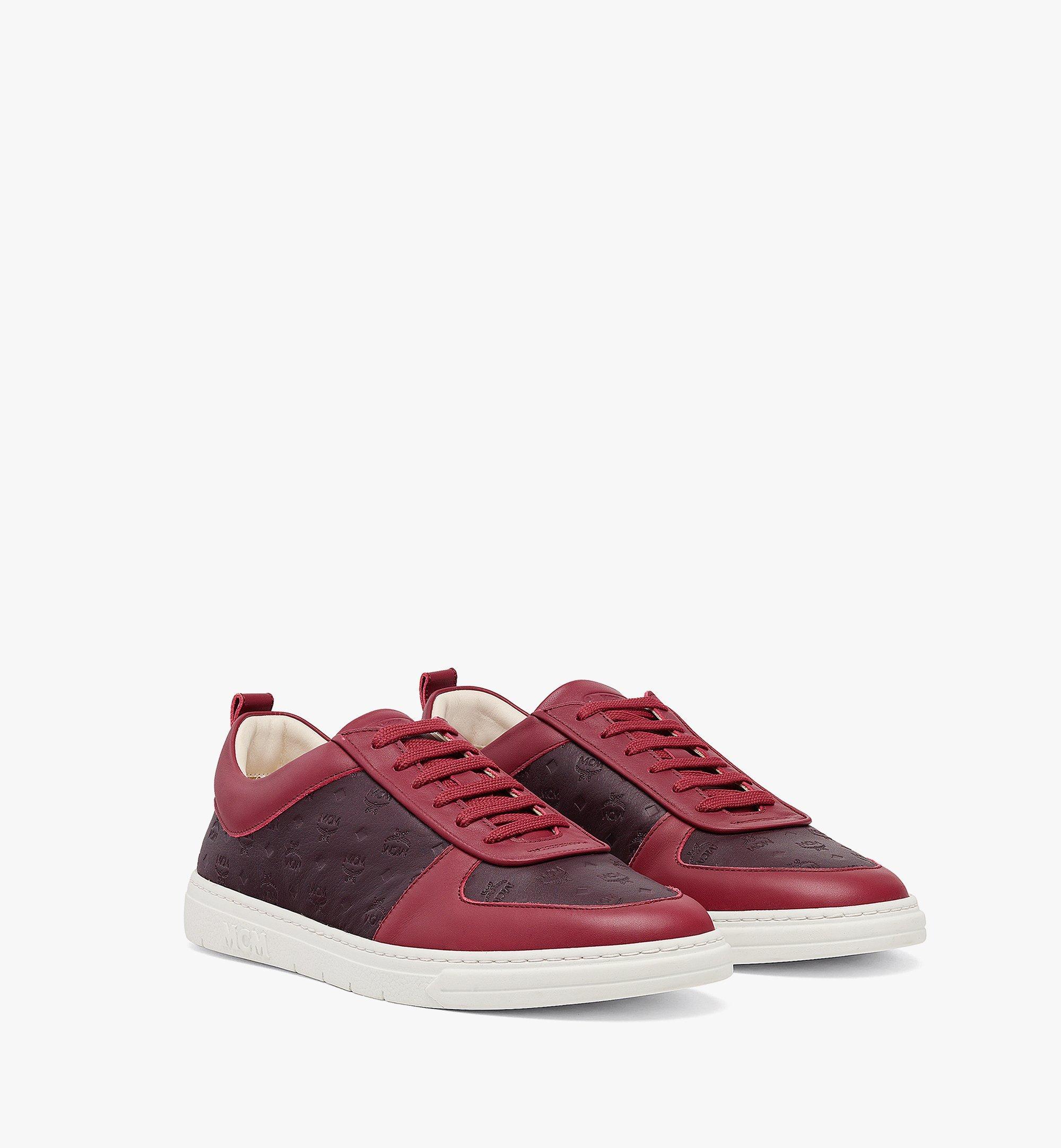 MCM Men's Sustainable Terrain Lo Sneakers in Monogram Leather Brown MEXBAMM01N9041 Alternate View 1