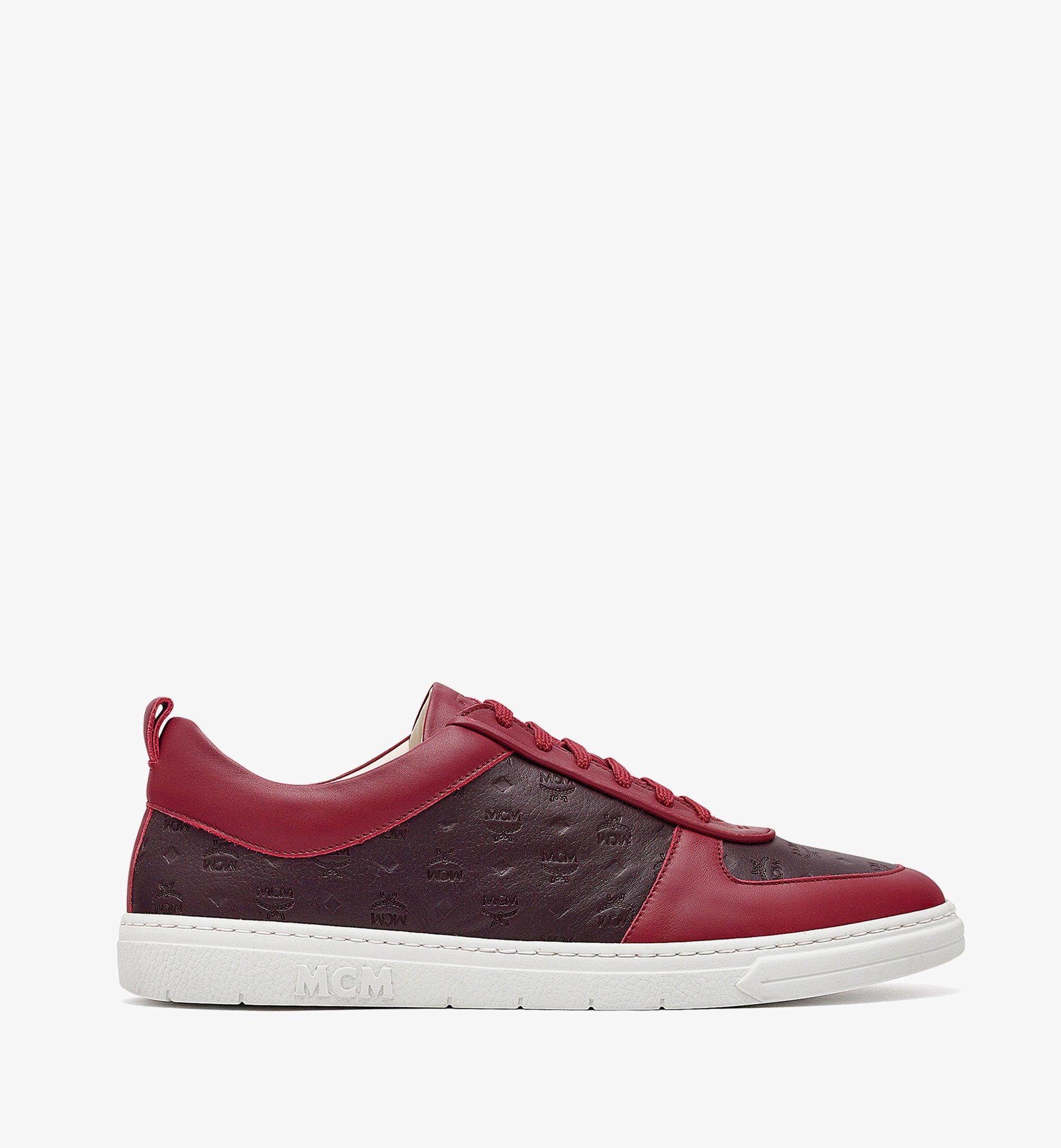MCM Men's Sustainable Terrain Lo Sneakers in Monogram Leather Brown MEXBAMM01N9041 Alternate View 3
