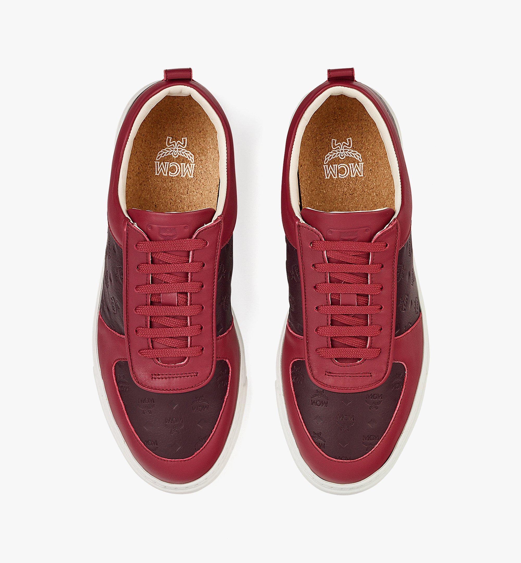 MCM Men's Sustainable Terrain Lo Sneakers in Monogram Leather Brown MEXBAMM01N9041 Alternate View 4