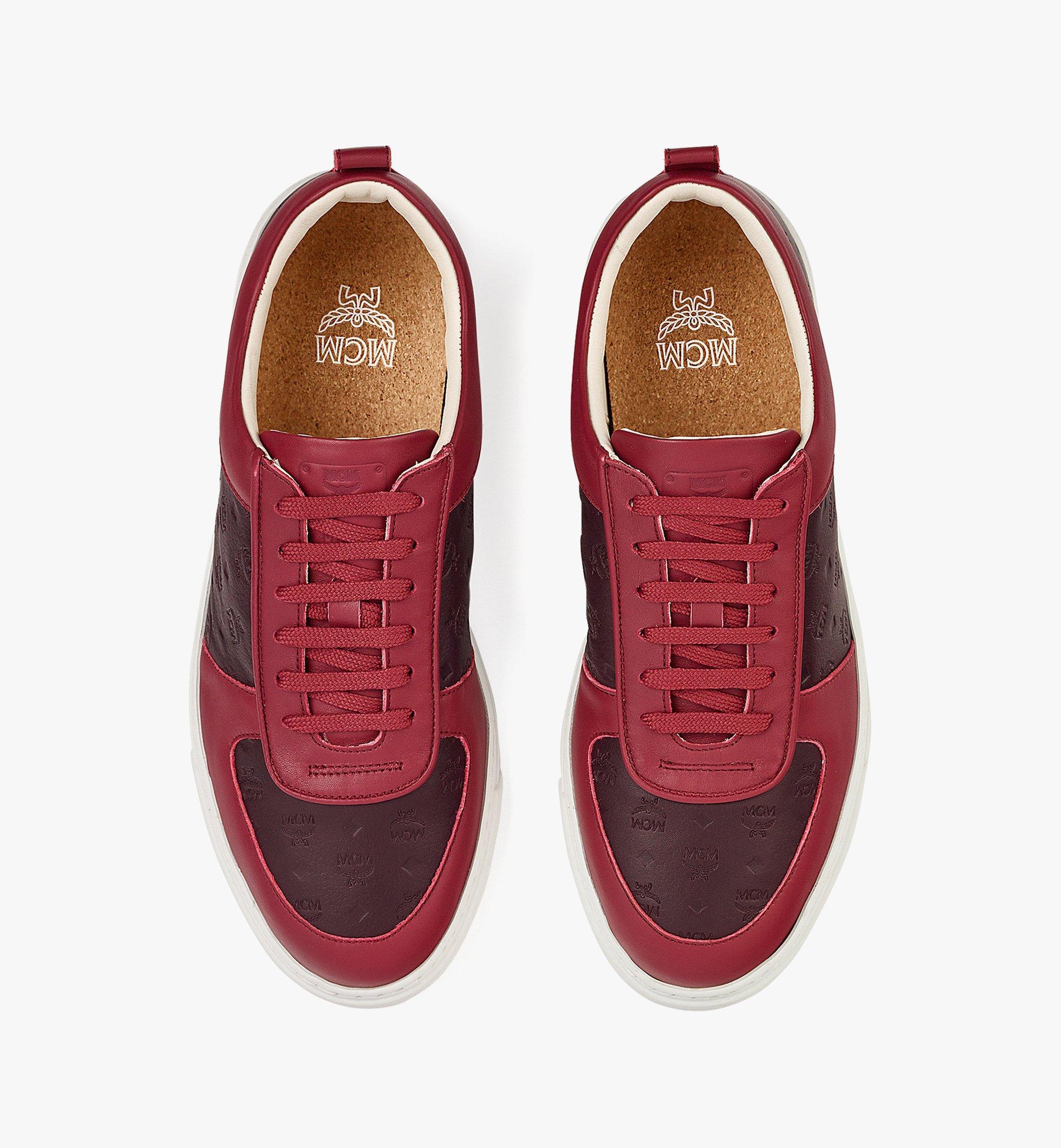 MCM Men's Sustainable Terrain Lo Sneakers in Monogram Leather Brown MEXBAMM01N9042 Alternate View 4