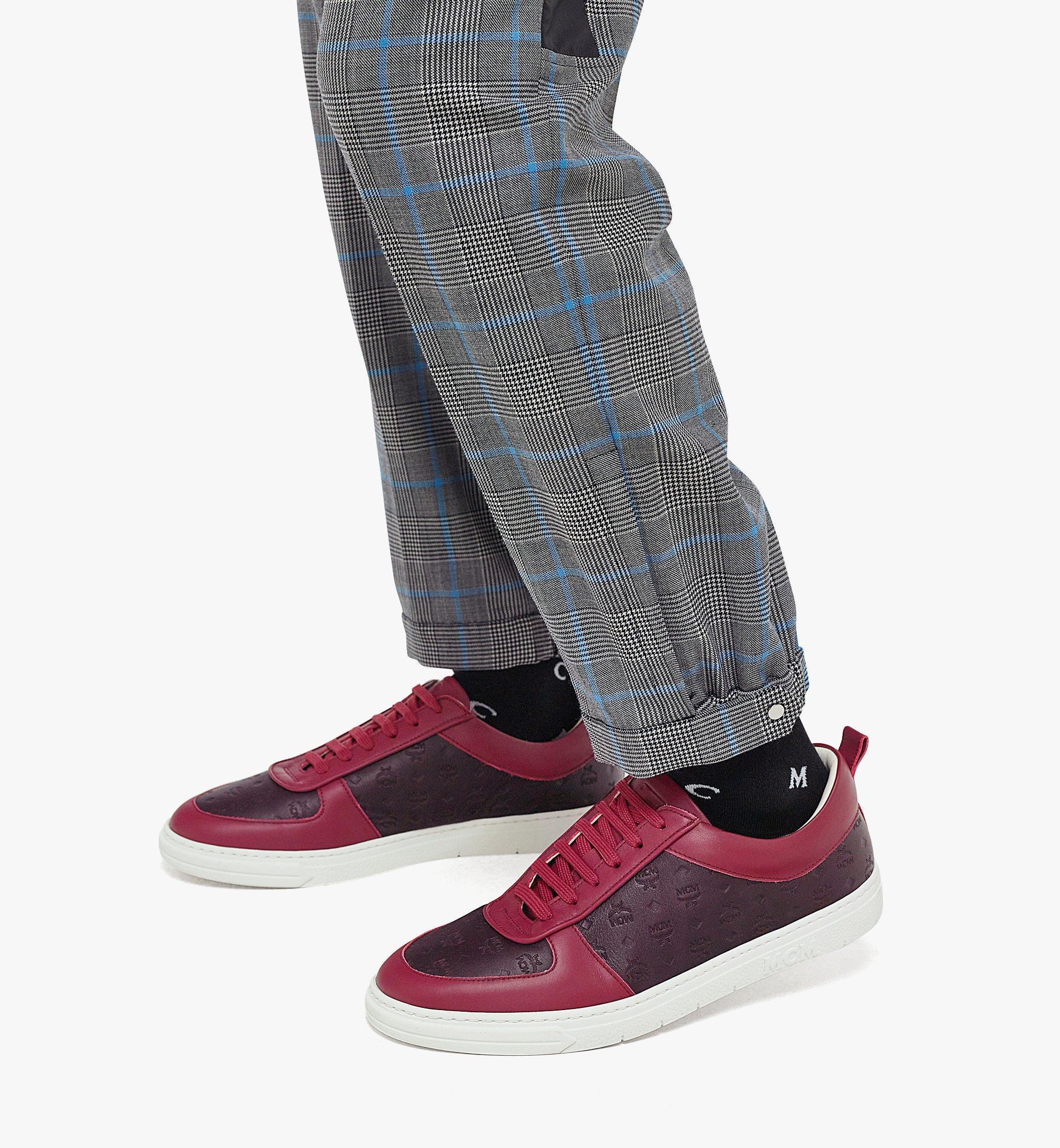 MCM Men's Sustainable Terrain Lo Sneakers in Monogram Leather Brown MEXBAMM01N9042 Alternate View 2