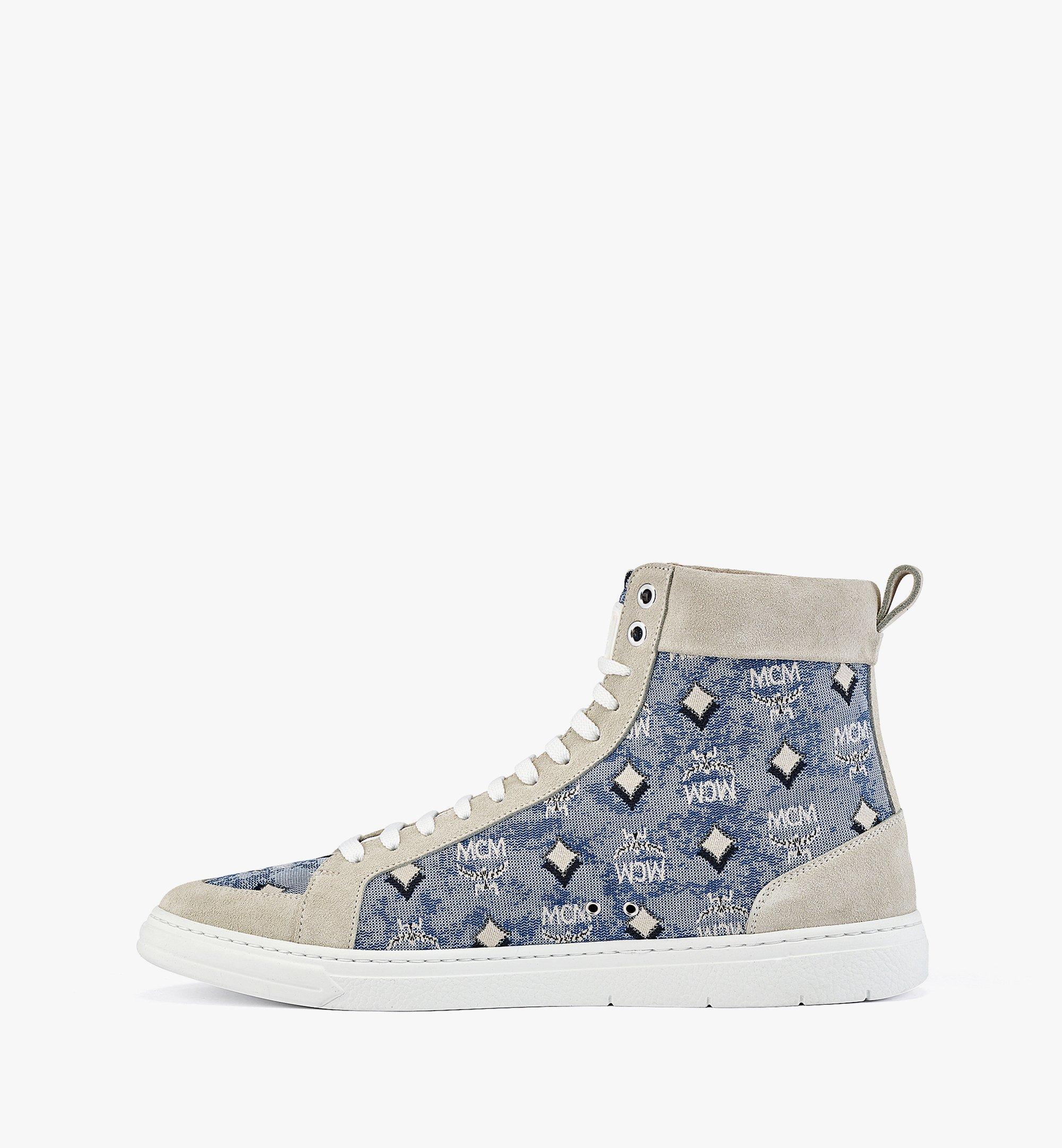 MCM Terrain High-Top-Sneaker aus Vintage-Jacquard mit Monogramm für Herren Blue MEXBATQ04LU041 Noch mehr sehen 1